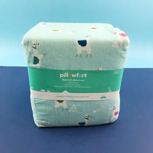"Pillowfort Llama 100% Cotton Flannel Bedding Full 4Pc Sheet Set 96""x81"" #NO0206"