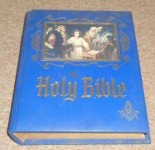 Vintage Masonic Freemasons Holy Bible Beautiful Take a LOOK !!!