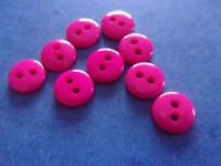 lot de 50 bouton scrapbooking 2 trou unis rose mercerie couture 9 mm art créatif