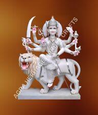 """36"""" Marble Goddess Durga Maa Statue Handmade Art Religious Gift Decor E743"""