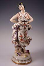 Aelteste Volkstedt Porcelain Figurine Muse Dancer Lady - Fine Quality