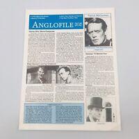 Anglofile Magazine Fanzine Patrick McGoohan Dr Who Vol 1 No 1 Summer 1988
