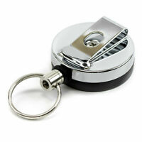 Retractable Key Chain Ring Stainless Steel Pull Recoil Rope Heavy Duty Cord