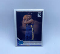 2019-20 Donruss Optic Zion Williamson Rated Rookie Base RC Pelicans SP NM