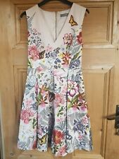 b894f08a0665 Oasis Floral Multicoloured Butterfly Floral Occasion Dress UK 8 Wedding  Races