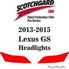 3M Scotchgard Paint Protection Film Pro Series Pre-Cut 2013 2014 2015 Lexus GS