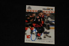 JAROME IGINLA 2001-02 PACIFIC ADRENALINE SIGNED AUTOGRAPHED CARD #25 FLAMES