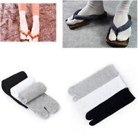 3Pair Cotton Japanese Kimono Flip Flop Sandal Split Toe Tabi Ninja Soft Socks YS
