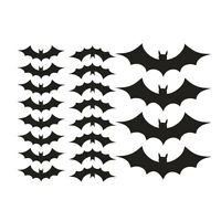 KQ_ BG_ KF_ Waterproof Removable Halloween Bat Wall Sticker Home Bedroom Decal D