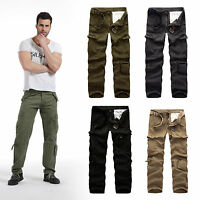 Mens Trousers Army Camouflage Casual Pants Military Work Cargo Camo Combat Pant