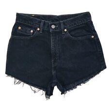 Levi's 512 Mujer a Medida Negro Ajustado Corte Recto con Pantalones Cortos W26/S