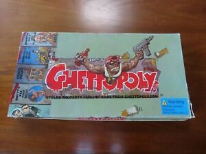 Ghettopoly Board Game Rare Monopoly Parody (adult Only ) Collectable