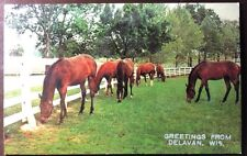Vintage Postcard Greeting From Delevan, Wisconsin