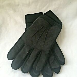 Men's Thick Insulated Isotoner Gloves Black One Size