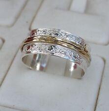 Wedding Ring Silver And Gold ,Handmade Wedding Band Sterling Silver Bridal Ring