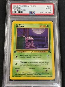 Pokemon TCG - PSA 9 - Grimer- 1st Edition Fossil 48/62
