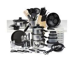 80 Piece Kitchen cooking frypan food storage utensil gadget cutlery Starter Set