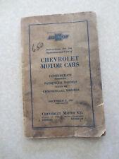 Original 1931 1932 Chevrolet Cars owners manual - Confederate BA BB & Commercial