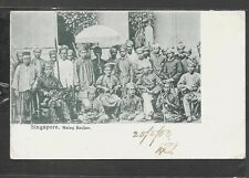 MALAYA SINGAPORE PPC MALAY RADJAS 1903 3c RATE TO UK