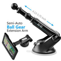 GPS Suction Cup Mount with Semi-Auto Telescopic Arm for Garmin GPS Units