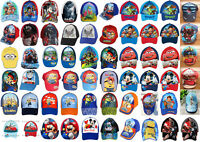 Boys Kids Paw Patrol Star Wars Character Summer Sun Baseball  Cap age 1-12 Years