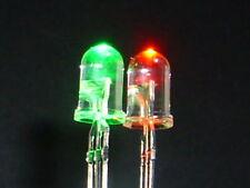 10 Stück Leuchtdioden / 3Pin Led / 5mm BICOLOR rot / grün / gemeinsame Kathode