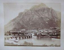 1890ca LECCO veduta foto originale all'albumina fotografo Bosetti