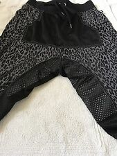 ANDREW CHRISTIAN VICIOUS STREET BLACK GREY LEOPARD KNEE LENGTH SHORTS