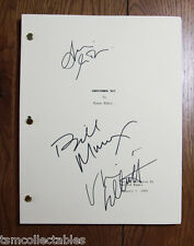 GROUNDHOG DAY signed script Bill MURRAY Andie MACDOWELL autographed