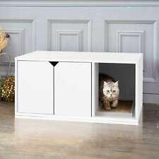 New listing Eco Friendly Modern Cat Litter Box Furniture, White Lifetime White