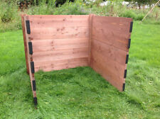 Classic Single Wooden Compost Bin Module Extendable Slot Down 75 x 90 x 90 cm