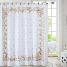 Anthology Algiers Shower Curtain, White and Gold