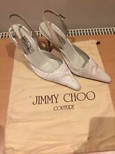 Jimmy Choo White Satin Heels, Bridal Hand Made Size 35,5 Uk 2,5