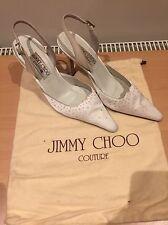 Jimmy Choo White Satin Talons, mariage fait à la main taille 35,5 Uk 2,5