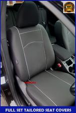 Negro De Cuero Ecológico Adaptada juego completo de fundas de asiento Vauxhall Corsa D 5dr 2006 - 2014