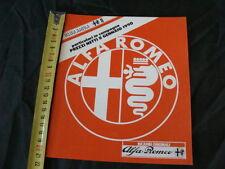 LISTINO PREZZI ALFA ROMEO RICAMBI ORIGINALI 8 GENNAIO 1990 OLD ITALY