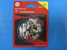 "Ge 43306 Rg6 Coax Twist-On ""F"" Connectors 10 Pack"