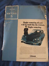 CITROEN DS DEALER DISPLAY MAGAZINE AD FROM THE NEW YORKER MAGAZINE