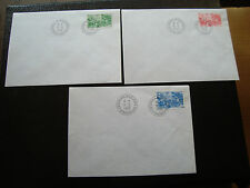FRANCE (timbre service) - 3 enveloppes 9/5/1998 (cy6) french