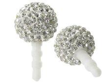 Crystal Rhinestone Dust Plug for 3.5mm Audio Port - Silver Disco Ball