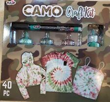 Tulip Tie Dye Shirt Kit 40pc Camo Everything You Need Fun & Fashion