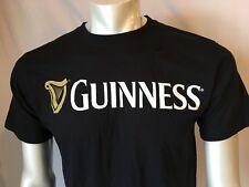 Guinness Men's Black T-Shirt Front Logo Size Medium