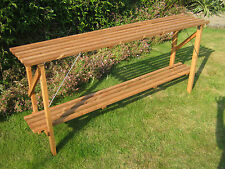"6' x 14"" Wooden Folding Greenhouse Staging - Potting Bench 6ft"