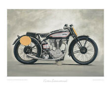 Classic Motorcycle Limited Edition Print Norton International by Steve Dunn