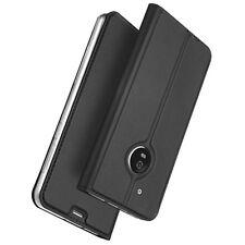 Etui folio pour Motorola Moto G5 Plus noir avec rabat latéral et fonction s