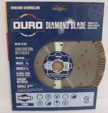 "DURO Diamond Blade 230 DCM 9"" Multi Matériau de coupe disque de barres d'armature escrime postes"