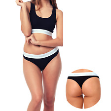 3 Pack of Cotton Sexy Thongs Womens Girls Comfort Cotton Fit Breathable Knickers