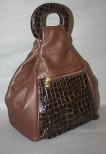 Russel & Bromley Brown Real Leather Medium Bag Backpack NO SHOULDER STRAPS !!!