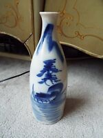 ANTIQUE CHINESE BLUE & WHITE POTTERY BOTTLE OR VASE MM NR