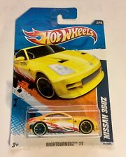 🏁 Hot Wheels Yellow 2011 Nissan 350Z - Nightburnerz 🏁